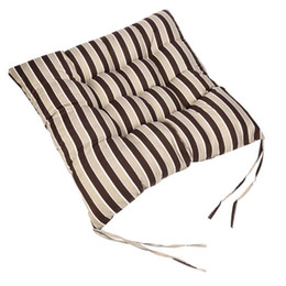 wholesale neck strips NZ - Classic Strip Print Chair Cushion Mats Square Quality Office Sofa Chairs Pad Pillow Garden Patio Supply Warm Soft Seat Pads #B15