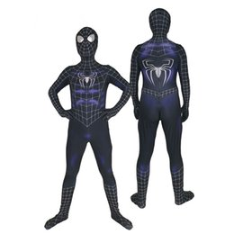 $enCountryForm.capitalKeyWord Australia - Black 3D Muscle Superhero Spider Cosplay Costume Halloween Lycar Spandex High Quality Zentai Bodysuit Catsuit Battle Jumpsuit Uniform