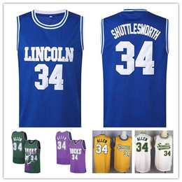 Discount throwback high school basketball jerseys - 90s Throwback He Got Game Moive Lincoln High School Ray #34 Allen Jesus Shuttlesworth Seattle Classics Basketball Jersey