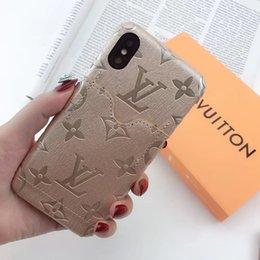 Wholesale One Piece Luxury Designer phone cases for iPhone x iphone plus case Back cover Imprint logo mobile phone case with card pocket