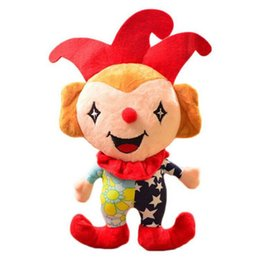 $enCountryForm.capitalKeyWord Australia - Circus Clown Plush Toys 20cm Mixed Colors Soft Stuffed Toy Cartoon Kids Dolls Pendant Decorative Toys for Children