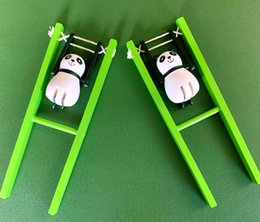 Wholesale wood panda for sale - Group buy China National Treasure Cute Cartoon Simulation Animal Panda Acrobatics Kongfu Children Friend Kids Toys Boutiqute Gifts