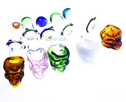 oil burner skull UK - QBsomk Thick pyrex glass oil burner pipe bubbler skull Clear pyrex Tube smoke accessory Pipe recycler oil Nails glass water pipe