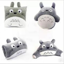 Toy Pillow Blanket Australia - Manufacturers Wholesale Plush Toy Toy Totoro Three In An Air Blanket Warm Hands Pillow Pillow Pillow