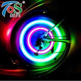 $enCountryForm.capitalKeyWord UK - TOS 2PCS Bike Light Bike Lamp LED Tyre Tire Valve Caps Wheel spokes Cycling Lanterns For Bicycle Light 3 Color Red Blue Green #479895