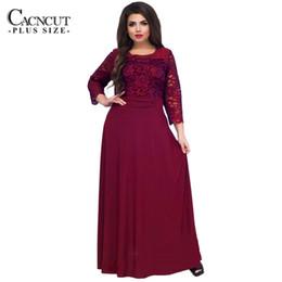 c96593e3684 5XL 6XL New Lace Patchwork Maxi Dress Long Plus Size Vintage Ladies Evening  Party Dresses Large Size 2019 Spring Robe Clothing Y19012102