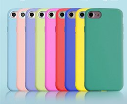Iphone Cases Soft Silicon Blue Australia - Case Cover For Iphone 5 5s Case For Iphone 6 6s Plus Macaron Soft Silicon Phone Case For Iphone 7 8 Plus