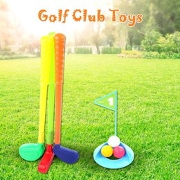 $enCountryForm.capitalKeyWord Australia - Golf Club Set Easy Hit Glof Set Toy For Kid Childrens Toddler Indoor Outdoor Game Toys Multicolor Plastic Mini Golf Club