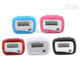 $enCountryForm.capitalKeyWord Australia - Health Gift Lcd Pedometer Step Counter Mini Calorie Counters Walking Distance New Pocket 5 Colors Hot Selling