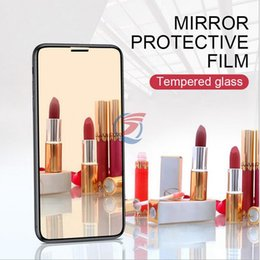 $enCountryForm.capitalKeyWord Australia - Color Beauty Mirror Tempered Glass Phone Screen Protector For iPhone XR X XS MAX 8 8Plus 7 7Plus 6 6Plus dhl free ship