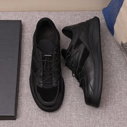 hot dress street Australia - 2019 Hot New Designer Mens Luxury Casual Shoes Black Letter Print Leather Street Style Brand Dress Shoes Top Quality 9943CE