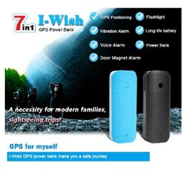 free cell phone gps UK - GPS Tracker Personal Tracker GPS Outdoor 80 days Standby Power Bank Flashlight Real-time SOS Magnet Led Light Outdoor Free APP