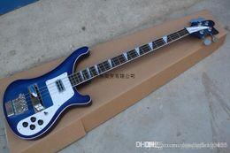 Wholesale base guitars online – design Best Brand Classic Bases Guitar RICKEDBACKER Blue Original Accessories Fret Electric Bass Guitar
