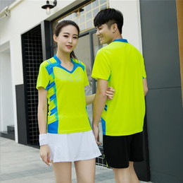 Polyester Table Skirting Australia - 2018 new men's table tennis clothing tennis skirt suit couple models badminton wear women's suit skirt trousers summer dry clothes
