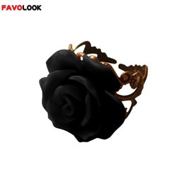 $enCountryForm.capitalKeyWord Australia - New Arrival Colorful Resin Rose Hollow Out Flower Ring Opening Resizable Gothic Finger Ring Vintage Jewelry for Women
