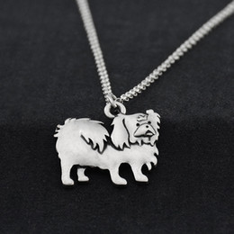 $enCountryForm.capitalKeyWord Australia - Vintage Silver Stainless Steel Long Chain Pekingese Dog Charm Pendant Choker Necklaces For Women Men Pet Lover Gift Jewelry Bijoux Femme