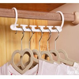 $enCountryForm.capitalKeyWord Australia - Hoomall White Storage Holder Clothes Hanger Creative Easy Hook Wardrobe Space Save Storage Racks Clothes Hanger