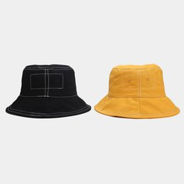 hat cars 2020 - Hat women female Japanese retro simple washed car line wide-brimmed fisherman hat tide male summer student outdoor wild