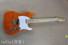 wholesale new style sell to guitar Ameican standard tele electric guitar with Golden yellow Golden