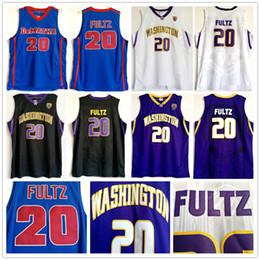 School Basketball Jerseys Australia - NCAA College Washington Huskies Markelle #20 Fultz Jersey Purple Black White DeMatha High School Markelle Blue Fultz Basketball Jerseys