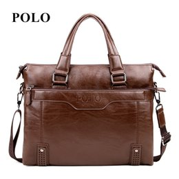 polo bags NZ - Brand POLO Men's Leather Handbags Vintage Crossbody Bag For Men Shoulder Bag Postman Business Briefcase Male Messenger NPL3