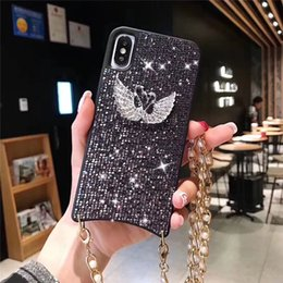 Iphone Girl Silver Case Australia - New Diamond Bling xs Back Phone case for Apple iPhone XS Max XR 8 7 6 Plus Swarovski Shockproof Bumper Couque for Female Women Girls