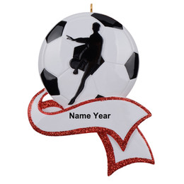 Decor Ornament Australia - Resin Personalized Soccer Ornament for Christmas Tree Decor, Gifts for Soccer Team Player Athlete, Sports Fan, Soccer Amateur