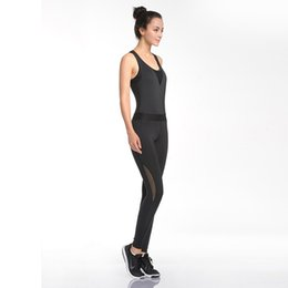 Training Jumpsuits UK - U Women's Yoga Sportswear Jumpsuit Ladies Fitness Training Underwear Breathable Bodysuit Trousers Pants Black One Pieces #634628