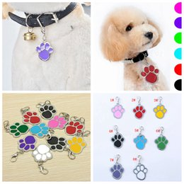 Rings holdeR cat online shopping - 8styles Cat Dog tag Pet Name Brand Key Ring ID Card Keychain Puppy Paw Print Pendant ornament Key Holder Dog Tag FFA3206