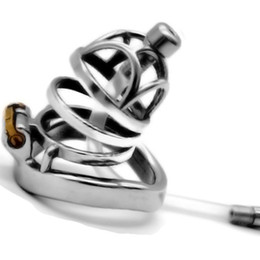 $enCountryForm.capitalKeyWord Australia - 2019 New Curved Cockrings Stainless Steel Penis Cage Metal Series Chastity Lock with Catheter Male Chastity Device Sex Toy for Men G7-1-256B