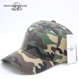Camouflage Hats Australia - BINGYUANHAOXUAN Fashion Camouflage Baseball Cap Women's Men's Snapback Hip Hop Cap Spring Hats For Men Army Gorras Casquette