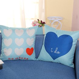 47875bdb0f6 Sky blue SofaS online shopping - Be Mine I Do Love Blue Pillowcase Sofa  Pillowcases Office