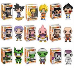 Super Buu Figure Australia - 2019 arrival Funko Pop Dragon Ball Z Super Saiyan Goku Vegeta Majin Buu Trunks Vinyl Action Figure With Box #121 #24 #156 #14