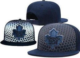 Black White Dot Hat Australia - MAPLE LEAFS Hockey DORONTO knit Beanies Embroidery Adjustable Hat Embroidered Snapback Caps Black Gray White Stitched Hats One Size 06