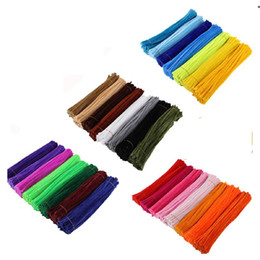 colored pipe cleaners for crafts Decorations Pipe Cleaners DIY Art Creative Crafts tools gifts for kids 6 mm x 12 Inch on Sale
