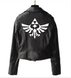 Game punk online shopping - New quality ladies leather jacket game Zelda legend zipper punk locomotive game Zelda legend leather jacket