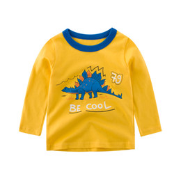 Baby Shirts Animal Patterns UK - 2019 Spring Autumn Boys T-shirt Cartoon dinosa letter Pattern Children Sports t-shirt Kids Base Shirt Baby Long Sleeve Tees 2-8T
