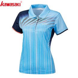 $enCountryForm.capitalKeyWord NZ - Kawasaki Clothing Sports Polo Shirts Short Sleeve for Women Quick Dry Breathable T-Shirt Woman T Shirt Sportswear ST-S2101