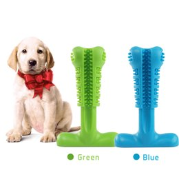 Silicone Toys Australia - Dog Toothbrush Toy Brushing Stick Pet Molar Pet Chew Toys Silicone Cleaning Tool Bristly Puppy Tooth Healthcare Teeth Brush for Dog