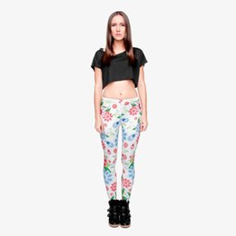 Chinese  Women Leggings Ladybird Flower 3D Graphic Full Print Comfortable Yoga Pants Lady Fitness Casual Jeggings Girl Sports Pencil Pants (Y29525) manufacturers