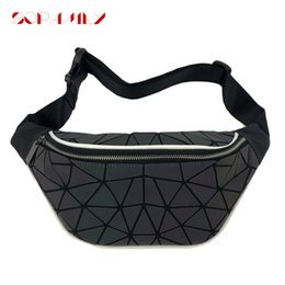 bum pack Australia - 2019 New Women Luminous Fanny Pack Geometry Waist Bags Women Shoulder Bum Bag Travel Waist Money Belt Bag Pouch Belly Bags Purse