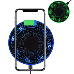 Wholesale Magic array W Led Wireless Charger Fast Charging Pad for iPhone X XS Samsung S9 S10 Huawei P20 Mate charger