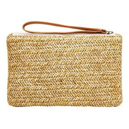 $enCountryForm.capitalKeyWord Canada - Beach Straw Hand Woven Weaving Clutch Bag Casual Fashion Women Wallet Handbag Summer Beach Hand Bags Mobile Phone Pocket Purse