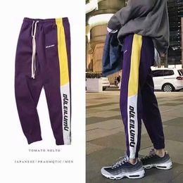 Discount graphic print joggers men - Korean Pants Men Hip Hop Pants Pencil Graphic Print Men Casual Fitness Joggers Fashion Punk Sweatpants Male