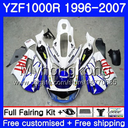 Chinese  Body blue white hot For YAMAHA Thunderace YZF1000R 96 97 98 99 00 01 238HM.12 YZF-1000R YZF 1000R 1996 1997 1998 1999 2000 2001 Fairings kit manufacturers
