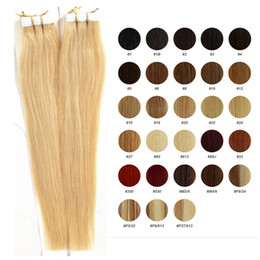24 inch tape hair online shopping - 16 to inch Tape in hair extensions skin weft colors blonde remy hair bags Double Sides Adhesive human hair