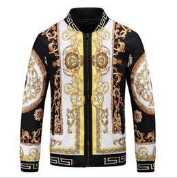 D branD jacket online shopping - Explosion New Men s Zip Jacket Elastic Cuffs uxury Brand Design Lightweight Embroidery VE SA E D Print Jacket embroidery