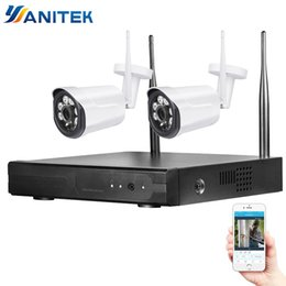 Wholesale 4CH WIFI Wireless Camera IP Security Camera Kit P HD CCTV System Outdoor Waterproof Home Security System MP