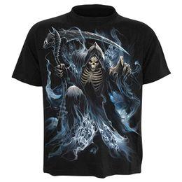 8d821e77 2019 Skull T shirt Skeleton T-shirt gun Tshirt Gothic shirts Punk Tee  vintage rock t shirts 3d t-shirt anime male styles
