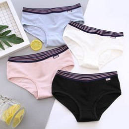 a031a57411e3 Pure Cotton Ladies Briefs NZ - Women's cotton Panties girls sports simple  Briefs fashion pure color